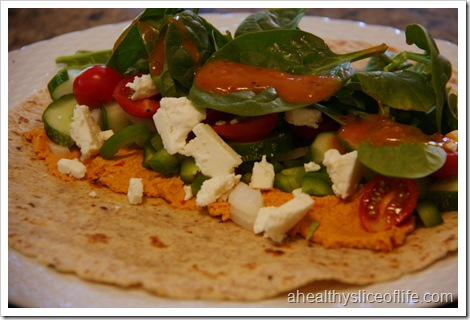 wrap with Annie's naturals red pepper dressing