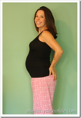 27 weeks pregnant belly picture