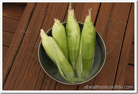 soaking corn