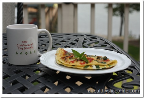 Greek omelet and coffee