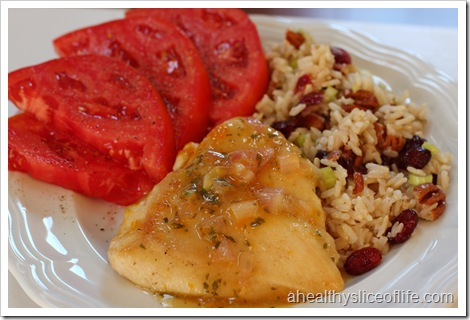 apricot chicken and rice pilaf