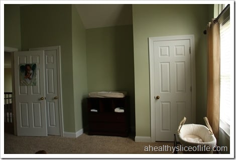 nursery left wall with changing table
