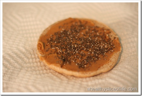 peanut butter and chia seeds