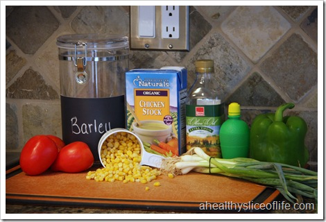 Barley and Summer Vegetable Salad Ingredients