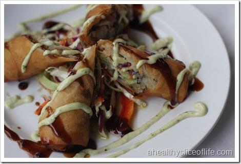 Restaurant X shrimp spring rolls