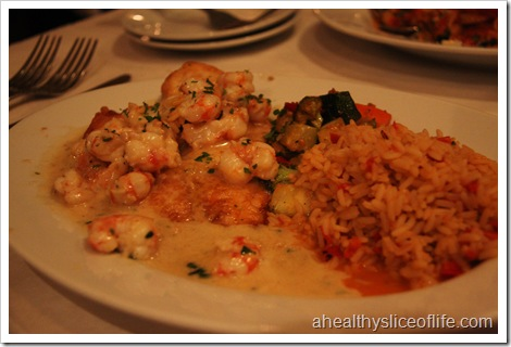 choplin's tilapia and shrimp in cream sauce