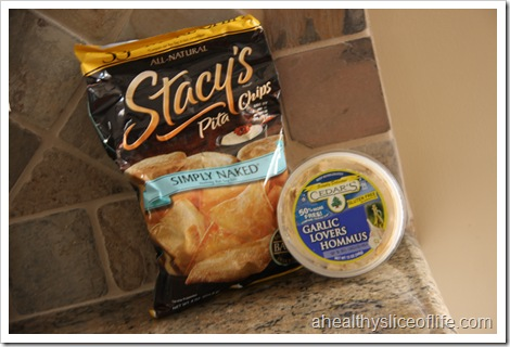 stacy's pita chips and cedar's hommus