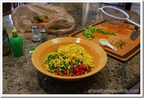 summer vegetable and barley salad
