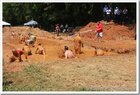 warrior dash huntersville nc mud pit