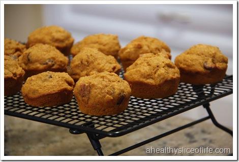 pumpkin nut dark chocolate muffin cooling 2