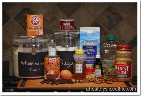 pumpkin nut dark chocolate muffin ingredients