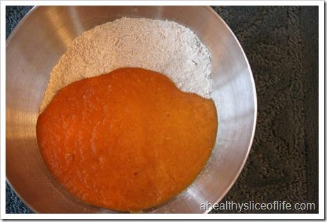 pumpkin nut dark chocolate muffin wet and dry (2)