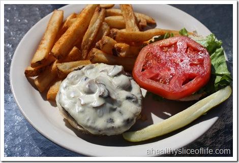 Canyons Restaurant- Blowing Rock NC- mushroom swiss burger