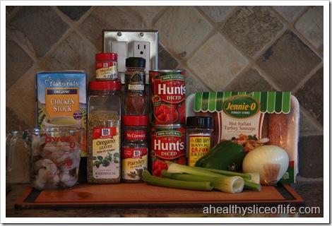Slow Cooker Jambalaya- Ingredients