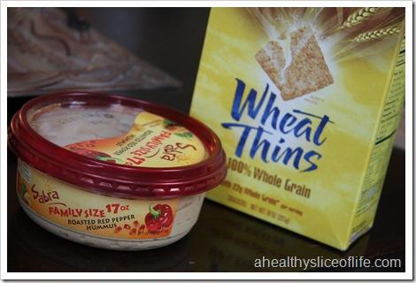 hummus and wheat thins