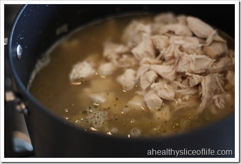 Chicken and White Bean Chili- add chicken