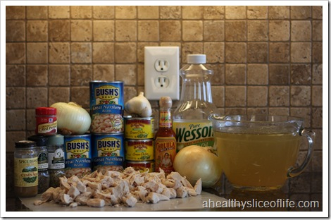 Chicken and White Bean Chili- ingredients