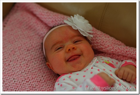 Hailey 2 month smiles