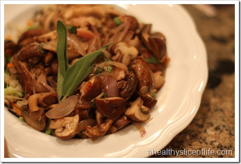 sauteed mushrooms with carmelized shallots - final