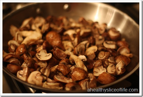 sauteed mushrooms with carmelized shallots - mushrooms cooked down 2