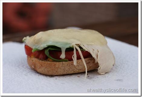turkey provolone on a bagel