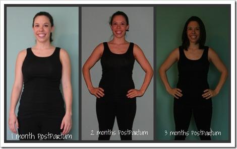 3 months postpartum front