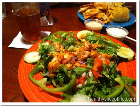 Buffalo chicken salad East Coast Wings and Grill Mooresville NC