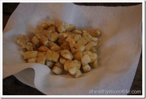 Eating Well Tofu and Broccoli Stir-fry- tofu drained