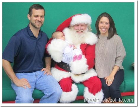 Hailey met Santa