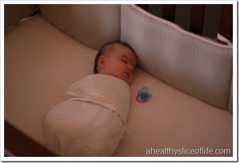 Hailey sleeps overnight in crib
