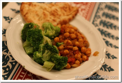 chana masala and broc