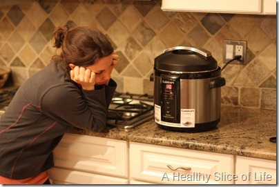 Cuisinart Pressure Cooker waiting to pressurize