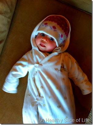 Hailey bundled up