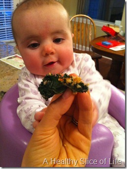 Hailey likes the kale chip