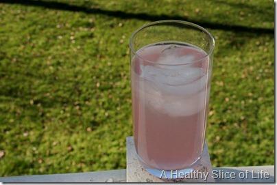 Trop50 Raspberry Lemonade in a glass