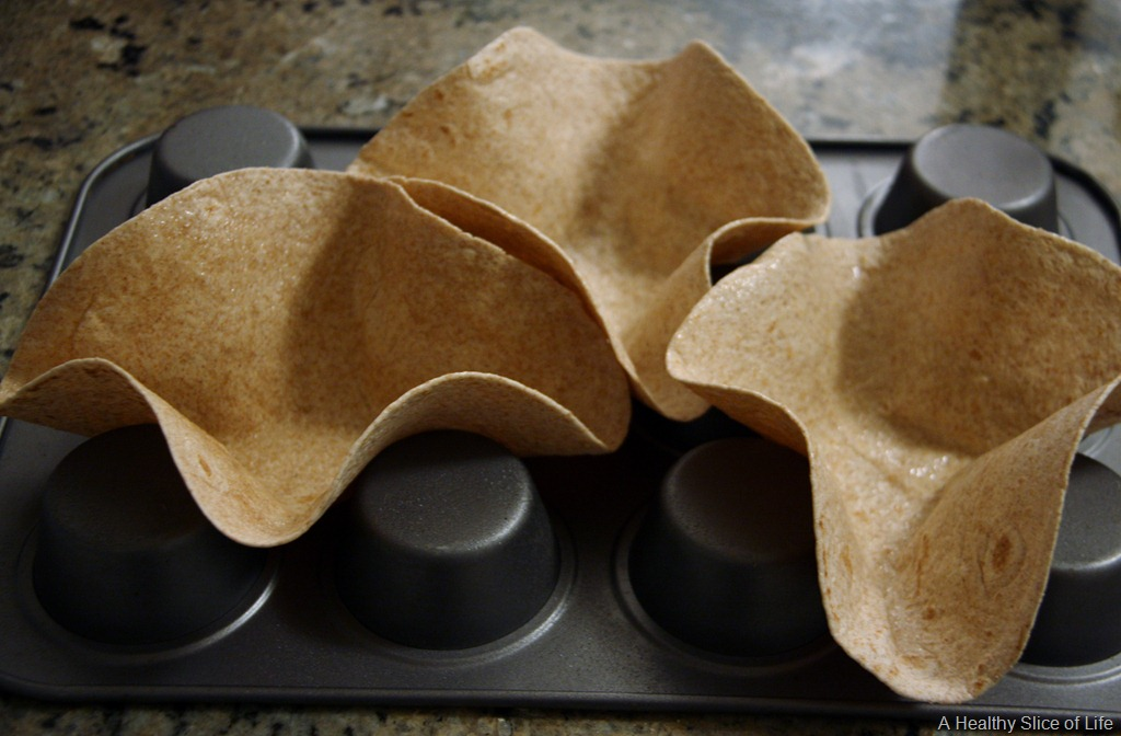 how to make baked taco shells from flour tortillas