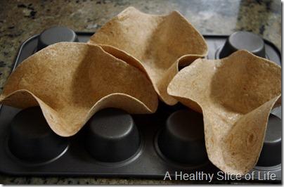baked tortilla shells