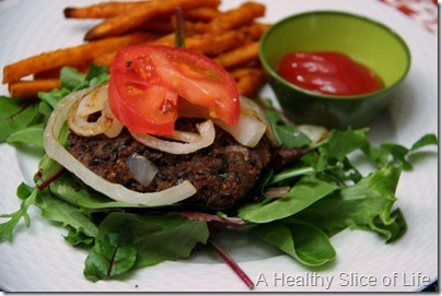 black bean burger- hers