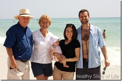 Destin family on beach