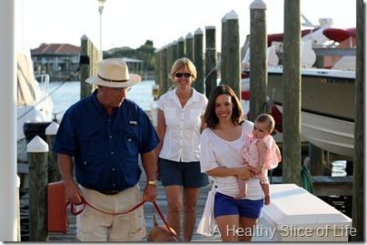 Destin walking on pier