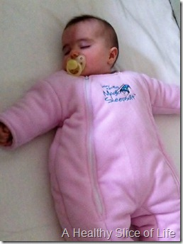 Hailey 6 months old sleep suit