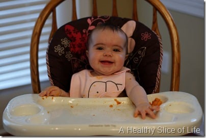 H's first food