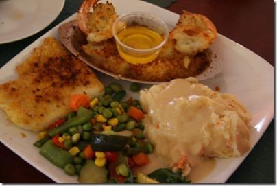 Joe Fish Mooresville NC baked seafood platter