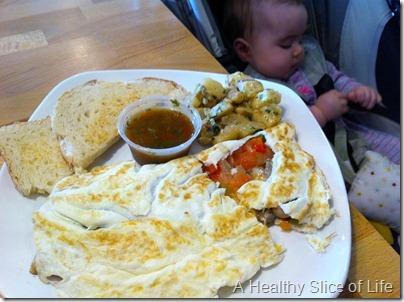 La Patisserie Mooresville NC veggie omelet
