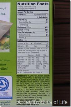 Mrs Pauls Parchment Bake nutrition facts
