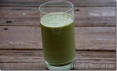 Peanut butter banana green monster- in glass