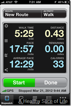 Walkmeter iPhone App Screenshot