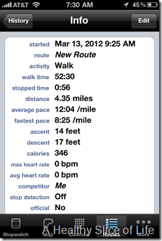 Walkmeter iPhone App