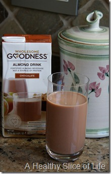 Wholesome Goodness Chocolate Almond drink