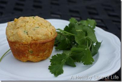 cilantro jalapeno cornbread muffins